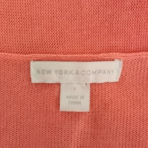 New York & Company Sweaters - NEW YORK & COMPANY Peach Cardigan Sz L